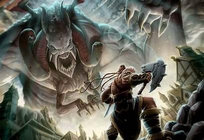 Fantasy Warrior Vikings Creature Artwork Axe Giant