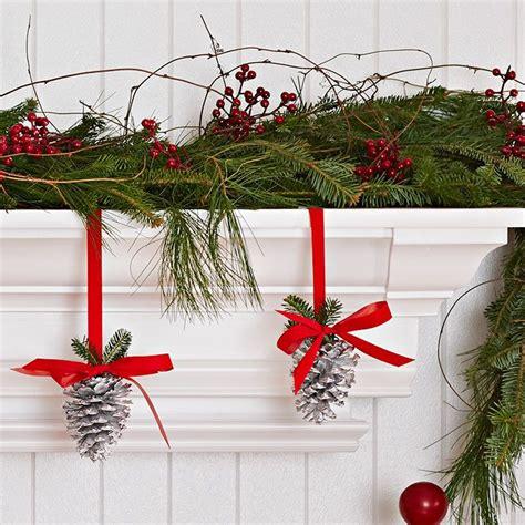 decorate  shelf  mantel  holiday greenery stack