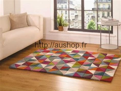 grands tapis salon pas cher tapis colores  modernes