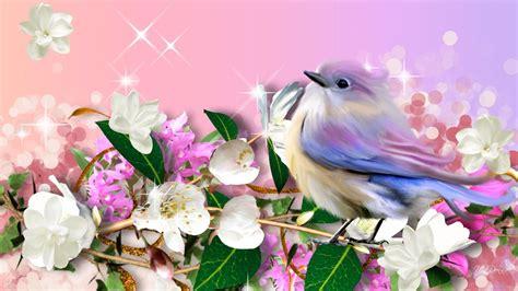 keren  wallpaper bunga  burung hd gambar