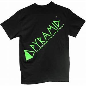 pyramid black t shirt w acid lime lettering pyramid bowling With tee shirt lettering