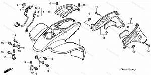 Honda Atv 2003 Oem Parts Diagram For Front Fender   U0026 39 99
