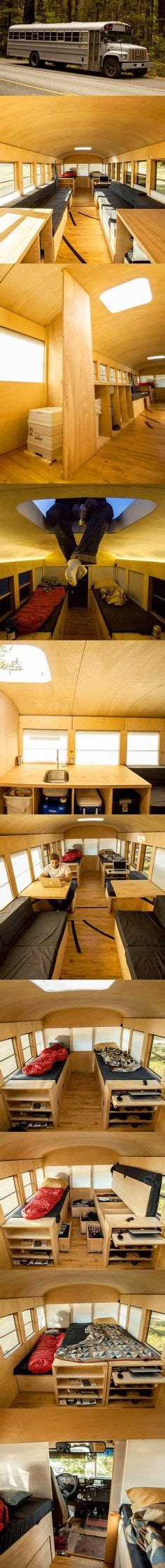 School Converted Into Small Home By Architecture Student by That S A Wrap From School To Cabin On Wheels