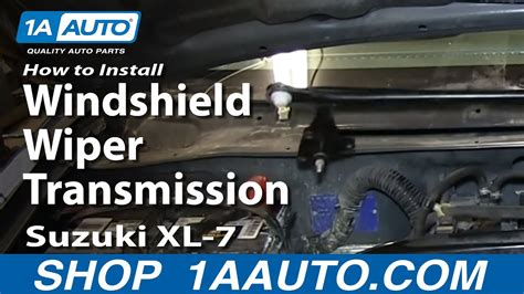 car maintenance manuals 1997 suzuki sidekick windshield wipe control how to install replace fix windshield wiper transmission linkage suzuki xl 7 youtube