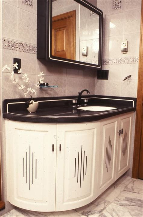 art deco  eclectic bathroom boston