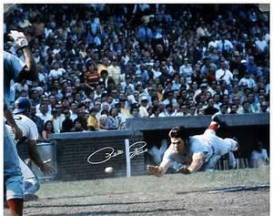 """Pete Rose Cincinnati Reds Autographed 16"""" x 20"""" Silver Ink ..."""