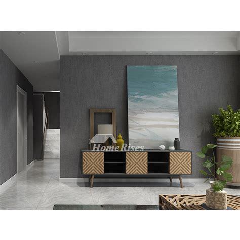 living room wallpaper textured graylight yellow modern