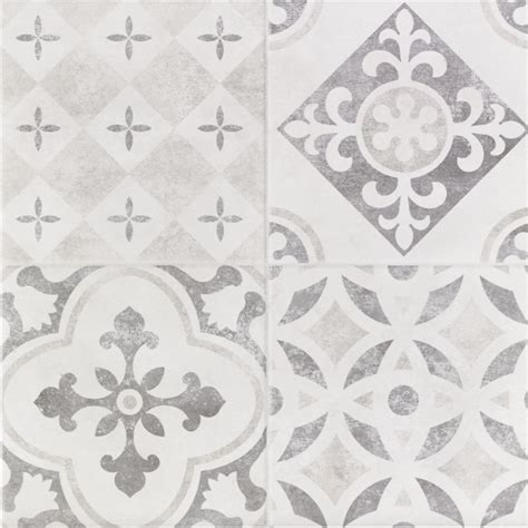 atlas grey patchwork ceramic wall floor tile pack