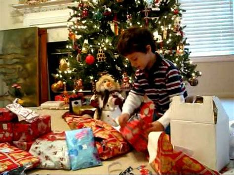 daniel unwrapping his christmas presents youtube