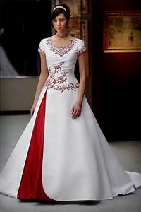 red and white wedding dresses with sleeves Naf Dresses