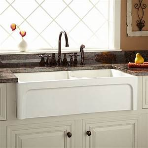 36quot risinger 60 40 offset bowl fireclay farmhouse sink With 39 inch farmhouse sink