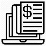 Data Icon Financial Reporting Report Statement Finance