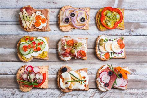 vegetarian canapes easy awesome sandwich toppings for open sandwiches