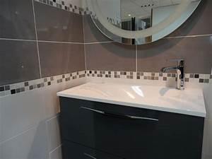 carrelage salle de bain photos - charmant salle de bain avec carrelage gris avec carrelage