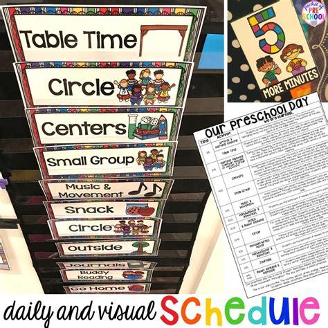 preschool daily schedule  visual schedules pocket