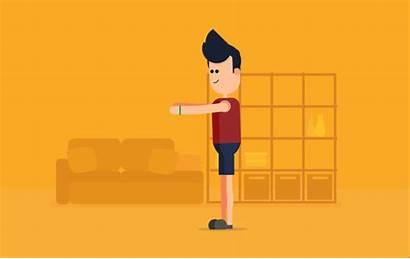 Workout Behance Consumer Motion Doing Cartoon Squats