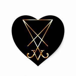 Sigil of Lucifer- A symbol of satanism Stickers | Zazzle