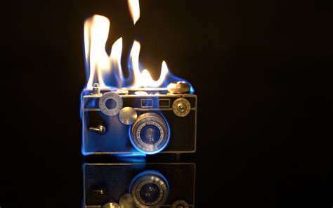 camera flames fire creative pictures wallpaper