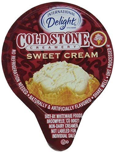 The term sweet cream refers to the use of satisfyingly full fat milk or. International Delight Mini Cold Stone Creamery Sweet Cream Coffee Creamer Singles (7/16 Fl Oz ...