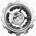 Gear Icon Machine Cog Sprocket Industrial Hub
