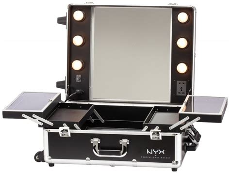 train case with lights modern make up storage ideas with amazon nyx makeup artist