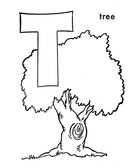 abc coloring sheet letter    tree alphabet