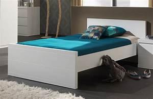 Bett 120 Weiß : einzelbett lara liegefl che 120 x 200 cm wei kinder jugendzimmer lara ~ Markanthonyermac.com Haus und Dekorationen