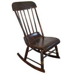 hitchcock style striped rocking chair lot