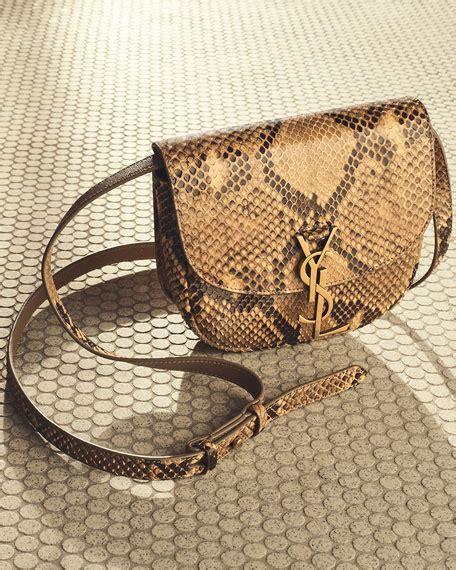 saint laurent kaia small monogram ysl python crossbody bag neiman marcus