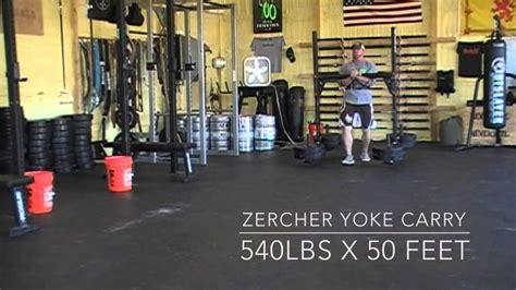 zercher carry yoke kettlebell banded