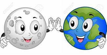 Moon Earth Clipart Sun Five Clipground Illustration