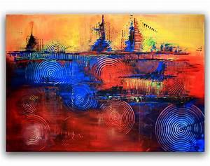 Abstrakte Kunst Kaufen : 4 gewinnt malerei abstrakt kaufen kunst wandbild burgstaller ~ Watch28wear.com Haus und Dekorationen