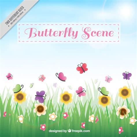 Cornice Foto Gratis - cornice con fiori e farfalle scaricare foto gratis