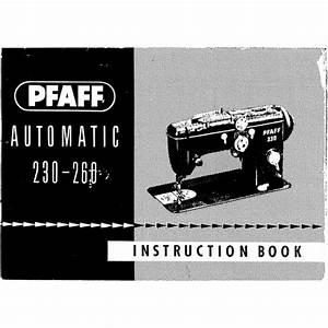 Instruction Manual  Pfaff 230