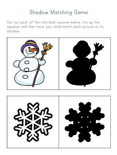 groundhog day crafts and activities all network 964 | shadow matching game