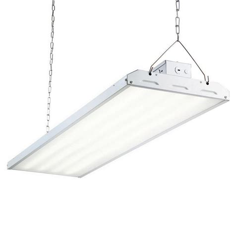 hanging led shop lights commercial electric 4 ft 1 l 30 watt white integrated