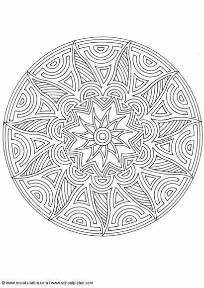 Mandala Coloring Kleurplaat Lots Mandalas Colorear Shapes