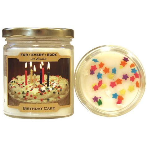 birthday cake home baked mini 1oz candle in jar for