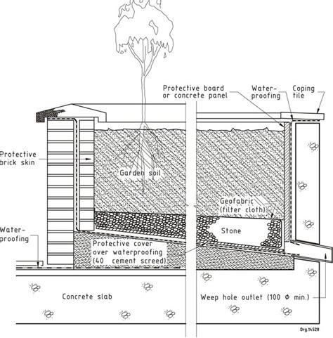 waterproofing concrete planters figure 40 flat roof waterproofing details water