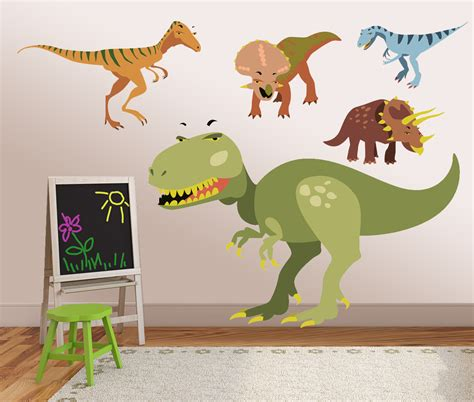 Vinyl Dinosaur Wall Decals Kids Wall Stickers Dino