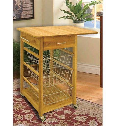 kitchen island with folding leaf drop leaf folding basket cart in kitchen island carts 8249