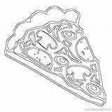 Pizza Coloring Pages Slice Ranch Party Colouring Cookie Preschool Teaching Math Books Printable Getcolorings Dltk Coloringkidz sketch template