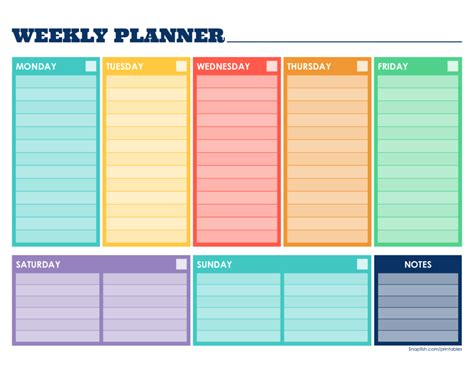 Free Weekly Planner Template Pin By Tubi Or Not Tubi On Planner Pages