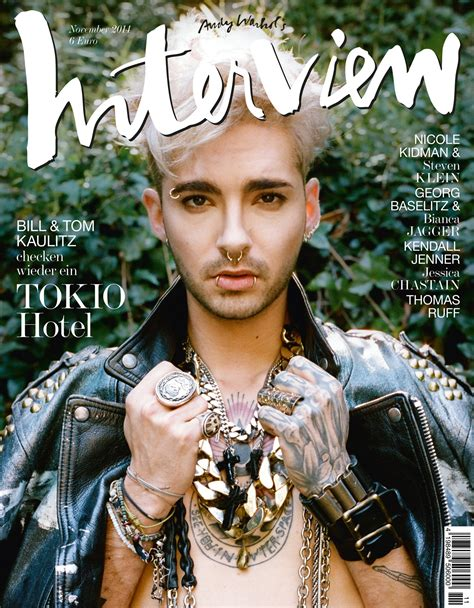 bill kaulitz  tokio hotel covers interview germany november