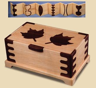 scroll  designs inlaid maple leaf jewelry box plans