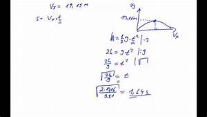 Wurf Berechnen : physik schiefer wurf mit energieerhaltungssatz youtube ~ Themetempest.com Abrechnung