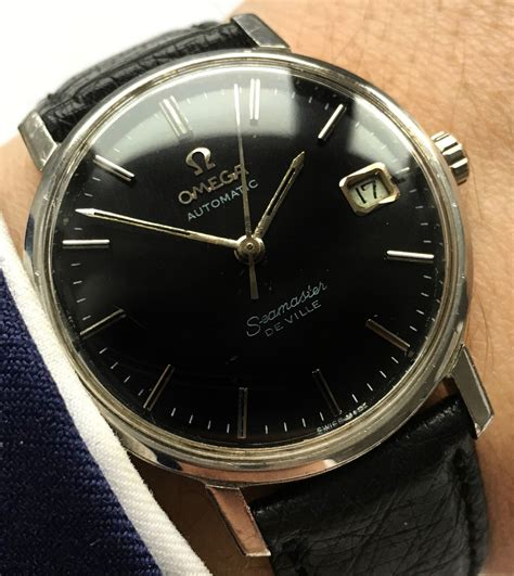 omega seamaster de ville black dial automatic vintage