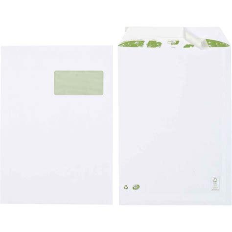 pochette bureau pochette c4 blanche era avec fenêtre 100x50mm 90g m