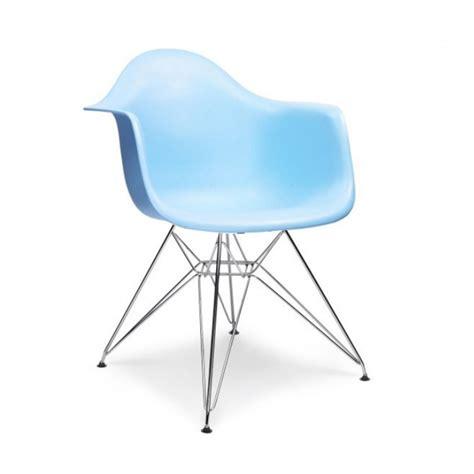 charles eames style dar arm chair blue