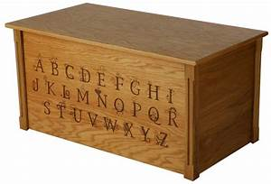Wooden Toy Box with Engraved Alphabet